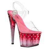 Transparent sandals platform 18 cm STARDUST-708T pleaser high heels sandals