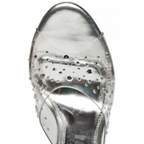 Trasparente 10,5 cm LOVELY-401RS Scarpe Donna Zeppe