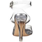 Trasparente 11,5 cm CLEARLY-406 Sandali da Sera con Tacco