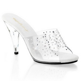 Trasparente 11 cm CARESS-401RS Pantofole Pietra Cristallo Tacchi