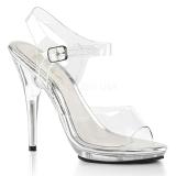 Trasparente 12,5 cm POISE-508 sandali tacchi a spillo