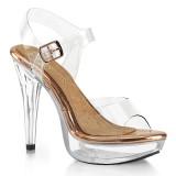 Trasparente 13 cm COCKTAIL-508 scarpe posare - tacco alto da competizione bikini