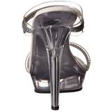 Trasparente 13 cm LIP-102-2 Pantofole Tacco Alto Pietre Strass