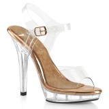 Trasparente 13 cm LIP-108 scarpe posare - tacco alto da competizione bikini