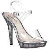 Trasparente 13 cm LIP-108MG Scarpe da donna con tacco altissime
