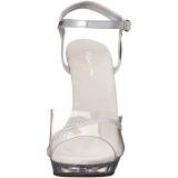 Trasparente 13 cm LIP-108R scarpe posare - tacco alto da competizione bikini