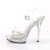 Trasparente 13 cm LIP-108R2 scarpe posare - tacco alto da competizione bikini