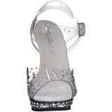 Trasparente 13 cm LIP-108RS scarpe posare - tacco alto da competizione bikini