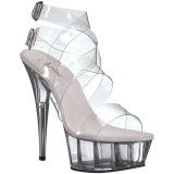Trasparente 15 cm DELIGHT-635 sandali tacchi a spillo