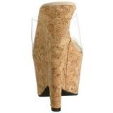 Trasparente 16,5 cm Pleaser BEAU-601 Scarpe Donna Zeppe Sughero