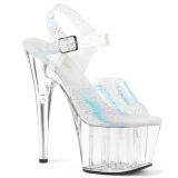 Trasparente 18 cm ADORE-708N-CK Ologramma plateau sandali donna con tacco