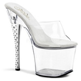 Trasparente 18 cm DIAMOND-701 Pantofole Pietra Cristallo Tacchi