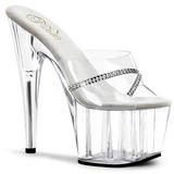 Trasparente 18 cm Pleaser ADORE-701R Pantofole Tacco Alto Donna