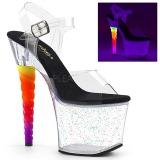 Trasparente 18 cm UNICORN-708MG scarpe con tacchi da pole dance