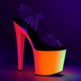 Trasparente 19 cm RAINBOW-708UV Sandali Donna Plateau Neon