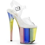 Trasparente 20 cm Pleaser FLAMINGO-808RT scarpe con tacchi da pole dance