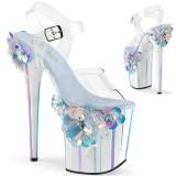 Trasparente 20 cm Pleaser FLAMINGO-808SQFL scarpe con tacchi da pole dance