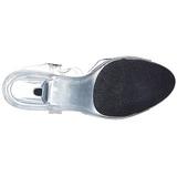 Trasparente 8 cm BELLE-308 scarpe tacco alto numeri grandi per uomo