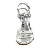 Trasparente Cristallo 11,5 cm CLEARLY-426 Sandali da Sera con Tacco