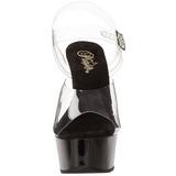 Trasparente Nero 15 cm Pleaser DELIGHT-608 scarpe da cubista e spogliarellista
