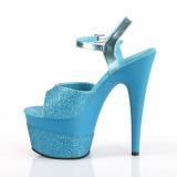 Turchese 18 cm ADORE-709-2G scintillare plateau sandali donna con tacco