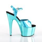 Turquoise 18 cm ADORE-709HGCH Hologram platform high heels shoes