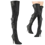 Vegan 13 cm SEDUCE-3019 thigh high boots for mens and drag queens in black