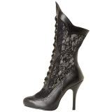 Vegan 7,5 cm VICTORIAN-116X Victorian ankle boots wide calf