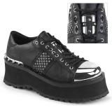 Vegan 7 cm GRAVEDIGGER-02 Platform Mens Gothic Shoes
