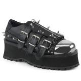 Vegan 7 cm GRAVEDIGGER-03 Platform Mens Gothic Shoes