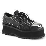 Vegan 7 cm GRAVEDIGGER-04 Platform Mens Gothic Shoes