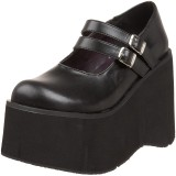 Vegano 11,5 cm DEMONIA KERA-08 scarpe décolleté mary jane plateau