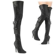 Vegano 13 cm SEDUCE-3019 stivali alti alla coscia da uomo nere