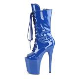 Vegano 20 cm FLAMINGO-1051 stivali spuntate con tacco e piattaforma blu
