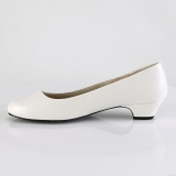 Vegano 3 cm GWEN-01 scarpe décolleté da uomo bianco