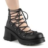 Vegano 7 cm BRATTY-32 demonia calzature alternative con la suola spessa nere