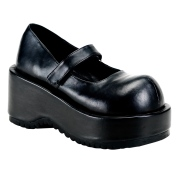 Vegano 8,5 cm DEMONIA DOLLIE-01 scarpe décolleté mary jane neri