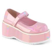 Vegano 8,5 cm DEMONIA DOLLIE-01 scarpe décolleté mary jane rosa