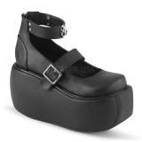 Vegano 9 cm DEMONIA VIOLET-32 scarpe décolleté mary jane plateau