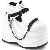 Vegano Bianco 15 cm Demonia WAVE-20 scarpe lolita sandali con zeppa plateau