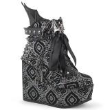 Vegano Nabuk 13 cm POISON-107 Stivali alla caviglia con zeppa altissima