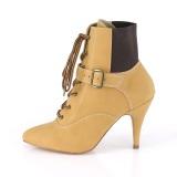 Vegano marrone 10 cm DREAM-1022 stivali alla caviglia con tacco per trans