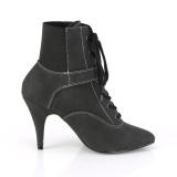 Vegano nero 10 cm DREAM-1022 stivali alla caviglia con tacco per trans