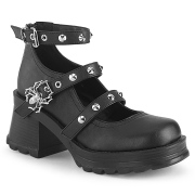 Vegano tacco spesso 7 cm Demonia BRATTY-07 scarpe con tacco chunky