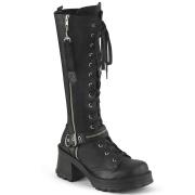 Vegano tacco spesso 7 cm Demonia BRATTY-206 stivali con tacco chunky