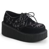 Velluto 7,5 cm CREEPER-219 scarpe creepers donna suola spessa