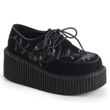 Velvet 7,5 cm CREEPER-219 creepers shoes women gothic platform shoes