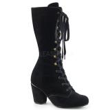 Velvet 7,5 cm VIVIKA-205 Victorian ankle boots