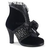 Velvet 9,5 cm GLAM-110 Victorian ankle boots