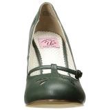 Verde 10 cm SMITTEN-20 Pinup scarpe décolleté con tacchi bassi